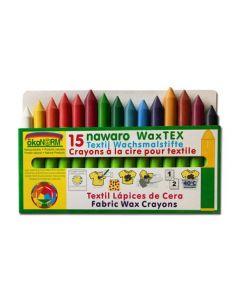 ökoNorm textiel krijtjes - 15 kleuren